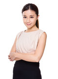 Young woman. Isolated on white background Stock Photos