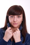 Young woman in a jacket. Stock Photography