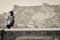 Young Woman of Jaipur, India Royalty Free Stock Images