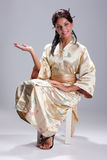 Young Woman In Japanese Clothing Stock Photography