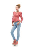 Young woman in jeans Royalty Free Stock Photos