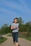 Young Woman Jogger Royalty Free Stock Photography
