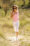 Young woman jogging Royalty Free Stock Image