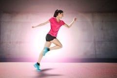Sport woman starting running Royalty Free Stock Photos