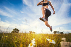 Young woman jogging in nature Royalty Free Stock Image