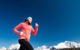Young woman jogging Stock Photo