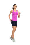 Young Woman Jogging stock photography