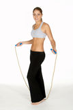 Young Woman with Jump Rope Stock Photography