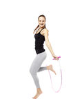 Young woman with the jump rope Stock Photos