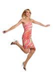 Young Woman Jumping Stock Photos