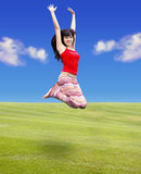 Young woman jumping Stock Photos