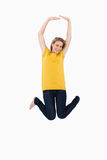 Young woman jumping Royalty Free Stock Photography