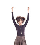 Young woman jumping Royalty Free Stock Photo