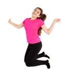 Young woman jumping Royalty Free Stock Photos