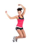 Young woman jumps Stock Image