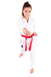 Young woman in karate outfit Royalty Free Stock Images