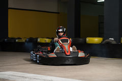Young Woman Karting Racer Royalty Free Stock Photography