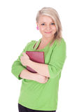 Young woman keeping book Royalty Free Stock Photos