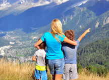 Young woman with kids Royalty Free Stock Photography