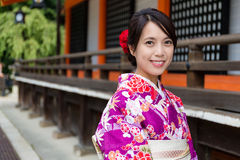 Young woman with Kimono Royalty Free Stock Photography