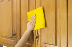 Cleaning cupboards Stock Photography