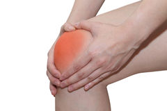Young woman with knee pain Stock Photos