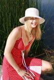 Young woman at the lake Royalty Free Stock Photo