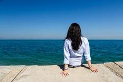 Young Woman at Lake Michigan Royalty Free Stock Images