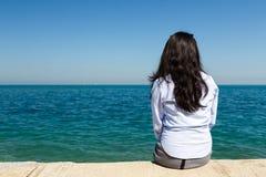 Young Woman at Lake Michigan Royalty Free Stock Photography