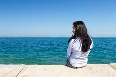 Young Woman at Lake Michigan Stock Image