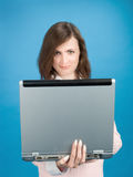 Young Woman With Laptop Royalty Free Stock Photo