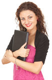 Young woman with laptop Royalty Free Stock Photos
