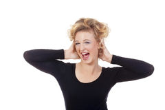 Young woman in laughing Stock Photography