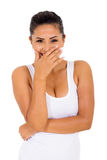Young woman laughing Stock Image