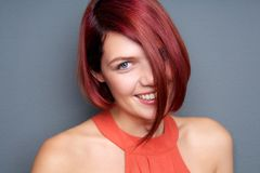 Young woman laughing with red hair Royalty Free Stock Photography