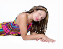 Young Woman Laying Down Royalty Free Stock Photo
