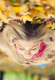 Young woman laying down Royalty Free Stock Photography