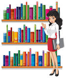 A young woman in the library Stock Images