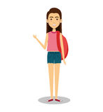 Young woman lifestyle avatar. Illustration design Royalty Free Stock Photo