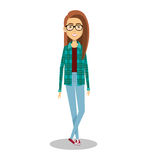 Young woman lifestyle avatar. Illustration design Royalty Free Stock Images