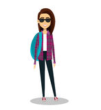 Young woman lifestyle avatar. Illustration design Royalty Free Stock Image