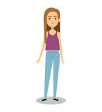 Young woman lifestyle avatar. Illustration design Royalty Free Stock Photography