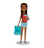 Young woman lifestyle avatar. Illustration design Stock Image