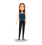 Young woman lifestyle avatar. Illustration design Stock Photography