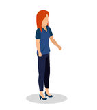 Young woman lifestyle avatar. Vector illustration design Stock Image