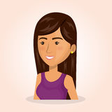 Young woman lifestyle avatar. Vector illustration design Royalty Free Stock Images