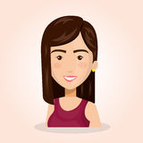 Young woman lifestyle avatar. Vector illustration design Royalty Free Stock Photo