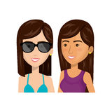 Young woman lifestyle avatar. Vector illustration design Stock Photo