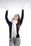 Young woman lift the hands Royalty Free Stock Image