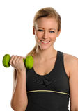 Young Woman lifting bumbbells Stock Photography